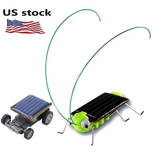 1 pack Solar Powered Grasshopper Children Learning Toy + World's Smallest Car – Educational