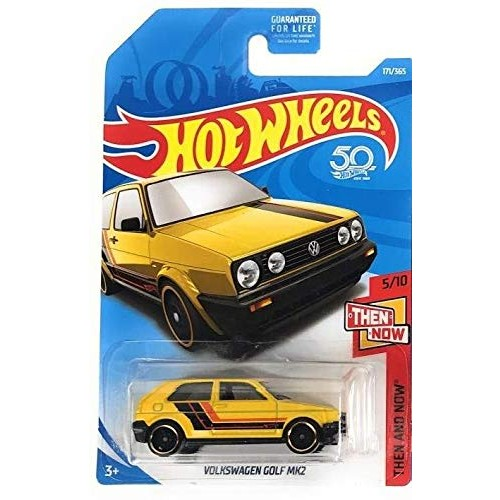Hot Wheels 2018 50th Anniversary Then and Now Volkswagen Golf MK2 171/365 Yellow