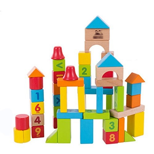 Kylin Express Children's Puzzle Solid Wooden Digital Building Block Toys#B