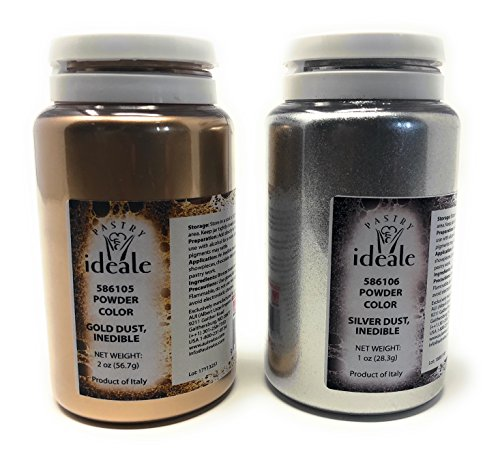 Pastry Ideale Gold Dust & Silver Set Inedible