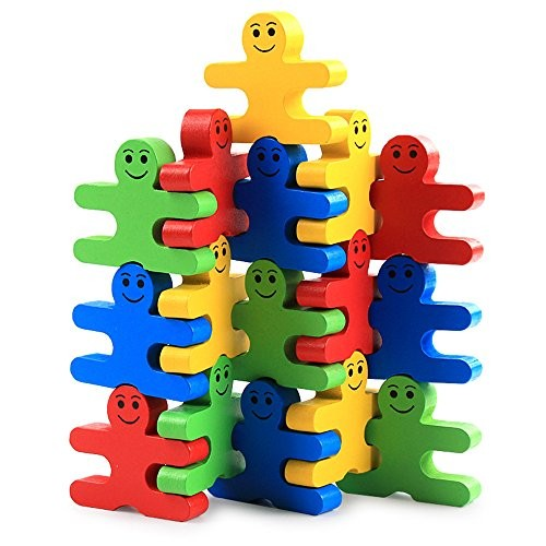 zhenyu Baby Wooden Toys Blocks Balance Game Building Block Early Educational Brick Table for Children Play with Friend