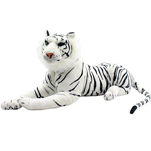 TAGLN Large Stuffed Animals Tiger Toys Plush Big White Lying 27 Inch