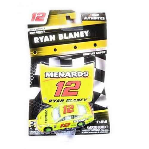 NASCAR Authentics Ryan Blaney #12 Diecast Car 1/64 Scale – 2018 Wave 3 with