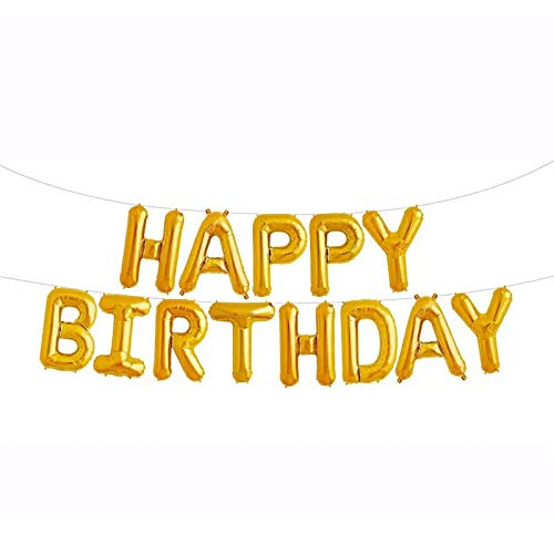 Happy Birthday Balloons iPartyClub Aluminum Foil Banner with LOVE for Party Decorations HB5G