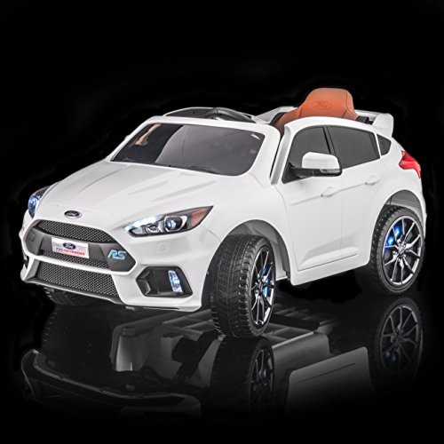 SUPERtrax Licensed Ford Focus RS Kid's Ride On Electric Toy Car Remote Control EVA