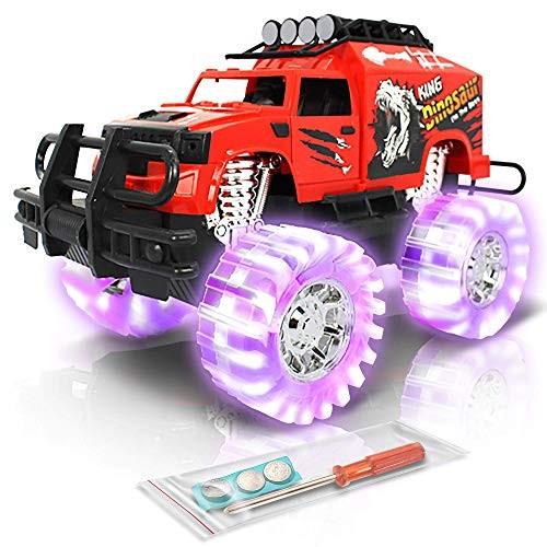 ArtCreativity Light Up Red Monster Trucks – 11 Inch Monster Truck with Beautiful Flashing