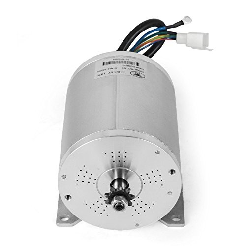 Mophorn 1800W Electric Brushless DC Motor 4500RPM 48V for Go Karts E-Bike Throttle Motorcycle Scooter and More 1800W 48V