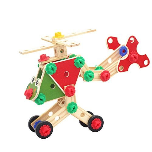 Wooden Building Blocks Set Sacow Puzzle Assemble Nut Combination Toy Early Childhood Education Toys