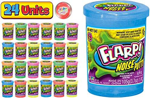 JA-RU Flarp Noise Putty Scented 24 Pack Assorted Squishy Sensory Toys for Easter ADHD Autism Stress Toy Great Party Favors Fidget Kids and Adults Boys & Girls Plus 1 Bouncy Ball 10041-24p