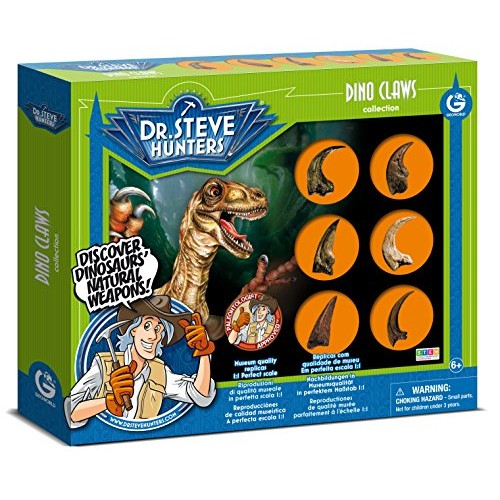 Uncle Milton Dr Steve Hunters – Dino Claws Replica Collection 6 Piece Scientific Educational Toy