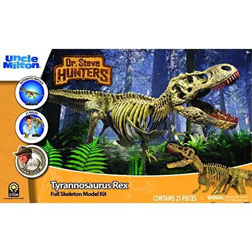 Uncle Milton Dr Steve Hunters – T Rex Replica Skeleton 21Piece 1 15 Scale 30 Scientific Educational Toy