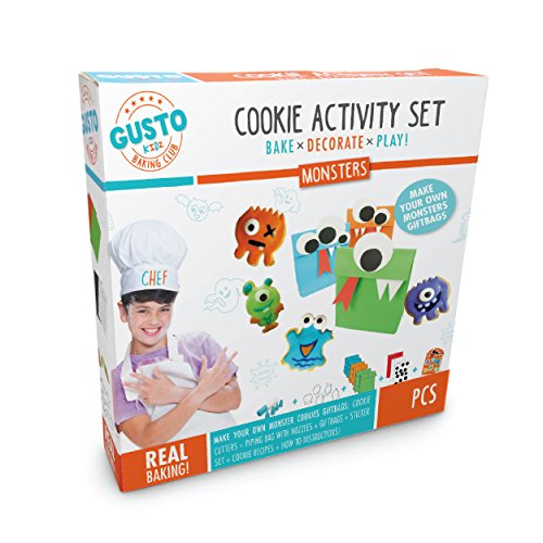 Gusto Monsters Cookie Activity Set – Bake Decorate Play