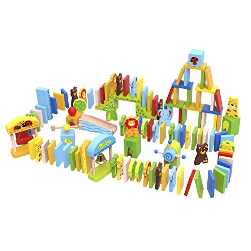Fat Brain Toys Zoo-Ominoes Wooden for Ages 3 to 4