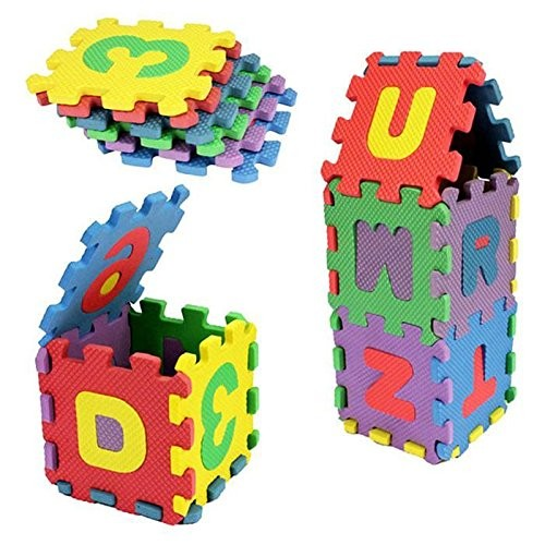 Bifast 36PCS Baby Kids Alphanumeric Educational Puzzle Foam Mats Blocks Toy Gift Each small piece 5cm5cm