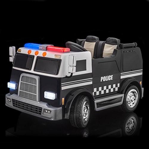 SUPERtrax Big Rig Emergency Kid's Ride On 4 Wheel Drive Police Response Team Electric