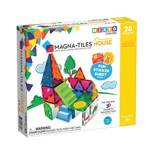 Magna-Tiles House Set The Original Award-Winning Magnetic Building Creativity & Educational Stem Approved Solid Clear Colors