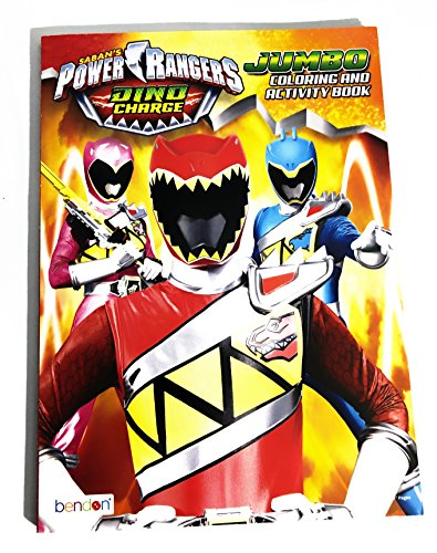 Power Rangers Dino Charge Jumbo Coloring and Activity Book W Tear & Share Pages