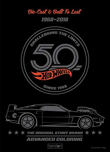 Hot Wheels 50th Anniversary 1968-2018 40-Page Advanced Coloring Book