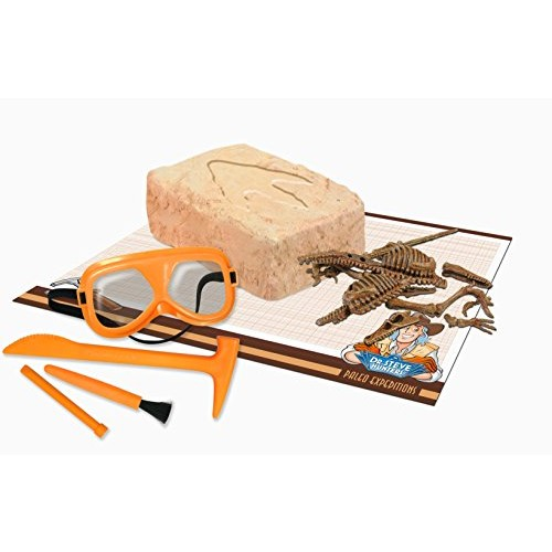 Uncle Milton Dr Steve Hunters-Paleo Expedition Dino Dig Excavation Kit Velociraptor-14 Piece-Scientific Educational Toy