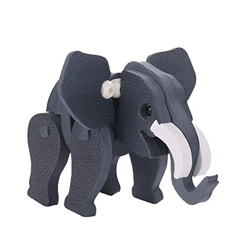 3D Foam Stereo Elephant Jigsaw Puzzle Educational Toy DIY EVA Model Building Blocks Set for Baby Kids