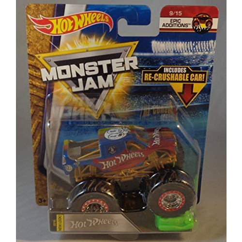Hot Wheels Monster Jam Epic Additions 9/15 Includes Re-Crushable Car