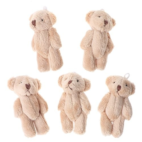 CHBC 5PCS Kawaii Small Bears Plush Soft Toys Pearl Velvet Dolls Gifts Mini Teddy