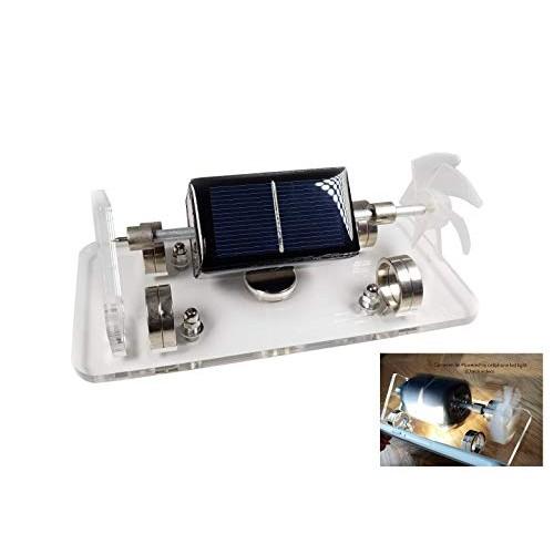 Usmile Solar Powered Mendocino Motor Magnetic Levitating Educational Model Mechanical Desk Toy Stem for Kids Friends Families Conversation Starter at Workplace