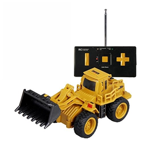 Hisoul Engineering Vehicle Car Toy 1 64 12V Mini Remote Control RC Dump truck Excavator Crane For Kids Play yellow C