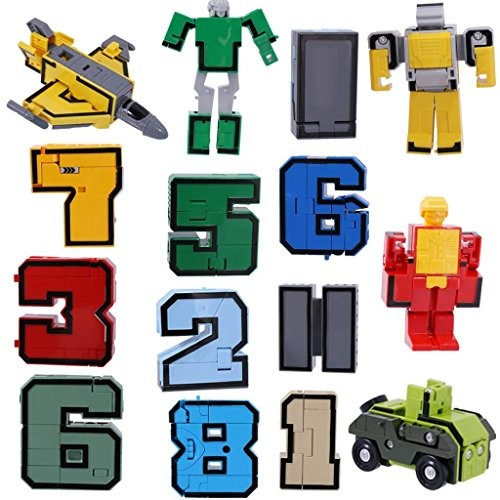 EBTOYS Numbers Transform Robots Toy Playset From 10 Pieces Combinate To Early Learning Robot Gift For Boy 0-9 robot