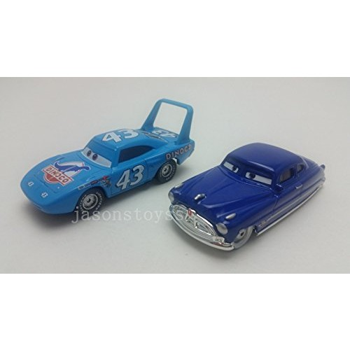 Pixar Cars Toys Diecast King & Doc Hudson Metal 1:55 Scale