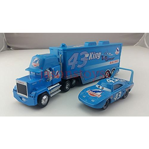 Pixar Cars Toys Diecast No43 Mack Racer's Truck & The King Metal 1:55 Scale