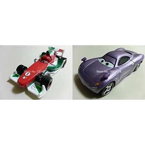 Pixar Cars Toys Diecast Chuy Cars 2 Francesco Bernoulli & 2 Holly Shiftwell Metal