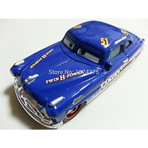 Pixar Cars Toys Diecast Fabulous Hudson Hornet Metal 1:55 Scale