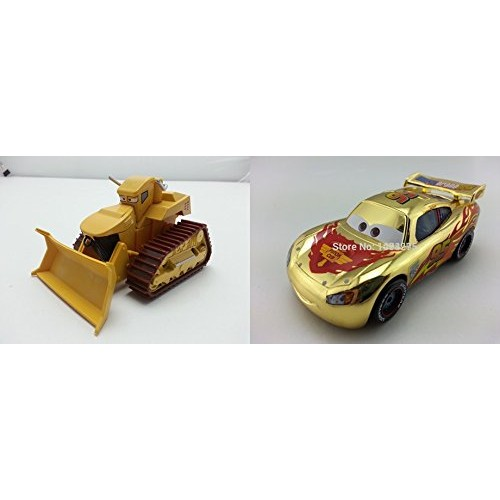 Pixar Cars Toys Diecast Chuy El Materdor & Metallic Finish Gold Chrome McQueen Metal