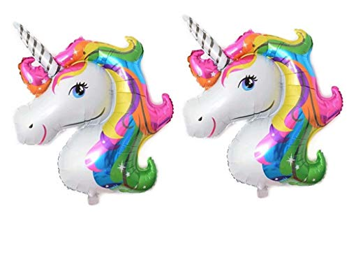 Unicorn Balloon 2 Pcs Large Helium Balloons DecorationsFoil BalloonTwo 44 Party BalloonParty DecorationParty Supplies Rainbow