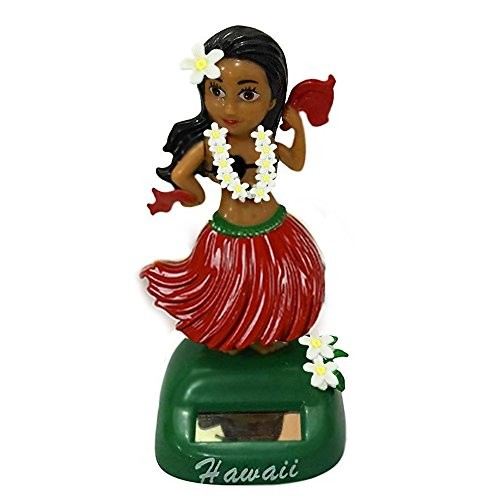 Loriver Hawaii Girl Car Solar Powered Dancing Swinging Bobble Dancer-Toy