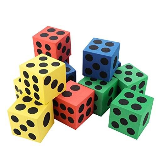 Gbell Specialty Large Eva Foam DiceSix Sided Spot Dice- Kids Game Soft Learn Math Play BlocksDevelopmental Education Toy63CM 37CMRandom Color 12PC Random 63CM