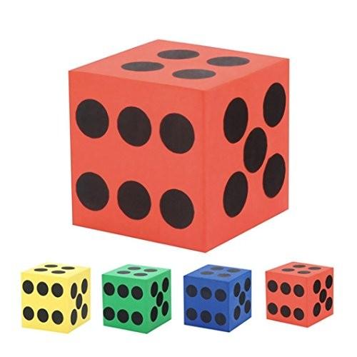 Gbell Specialty Large Eva Foam DiceSix Sided Spot Dice- Kids Game Soft Learn Math Play BlocksDevelopmental Education Toy63CM 37CMRandom Color 1PC Random 63CM