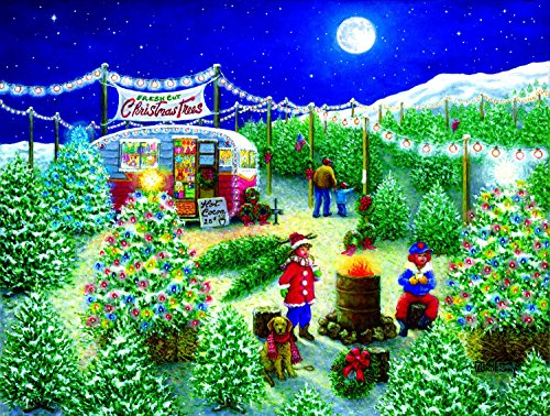 A Lot of Christmas Trees 300 pc Jigsaw Puzzle by SunsOut –