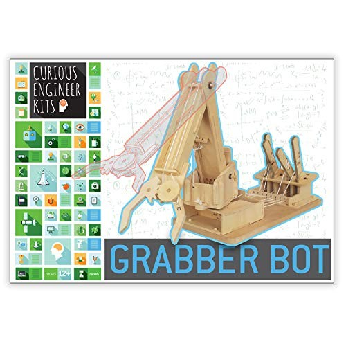 Make a Grabber Bot Kit 3d wooden model Facts and easy instructions included Copernicus Toys Curious Engineer