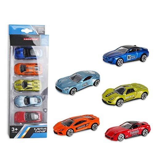 Gbell Kids Toddler Mini Alloy Engineering Car Playset 5Pcs – Simulate Educational Toy Gifts Vehicle Truck for Boys Over 3 Year Old C
