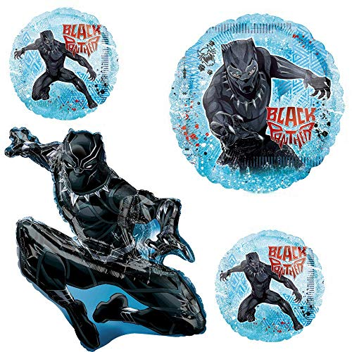 Black Panther 4 Pack Balloon Set Giant 38 Large 28 2 Round 18 Balloons Get All Three Styles Total