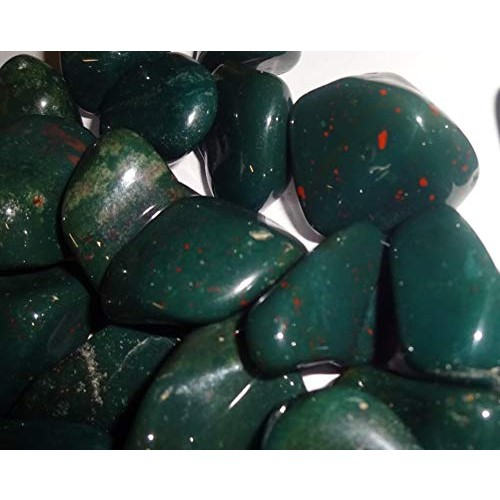 Sublime Gifts 10pc Bloodstone Tumbled & Polished Gemstone Healing Crystal Wicca Reiki Collectible Pocket Wrapping Stones