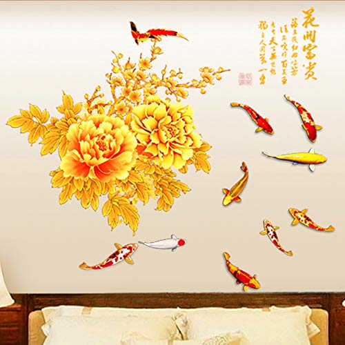 DERUN TRADINGL Wall Stickers & Murals Flowers Decals Decor Decorations Home Accents Vinyl Removable Mural Paper for Living Room Bedroom Treatments