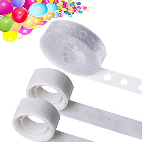 LOCOLO 75 Ft Garland Decorating Strip Tape 200 PCS Reusable Balloon Glue Point Arch Kit Easy to Make Wedding and Party Decorations 3 Rolls