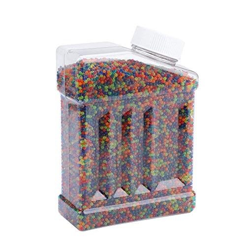 Water Beads for Kids 40000pcs Bottle 9-11mm Colored Soft Crystal Jelly Gel Growing Gun Bullets Tactile Sensory Toys Vases Plants Wedding Party Mixed