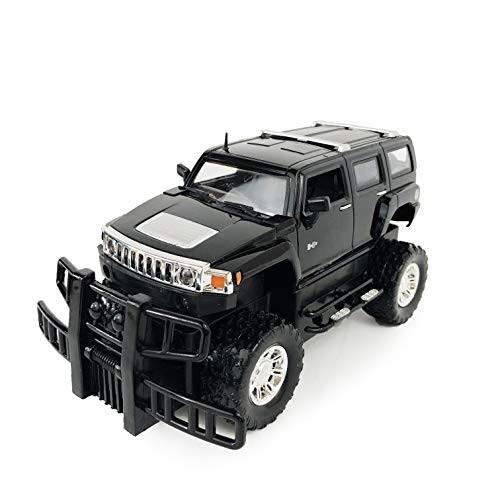 allgala GM Hummer License Friction Plastic Toy Model Car 1:24 H3 SUV Black Color