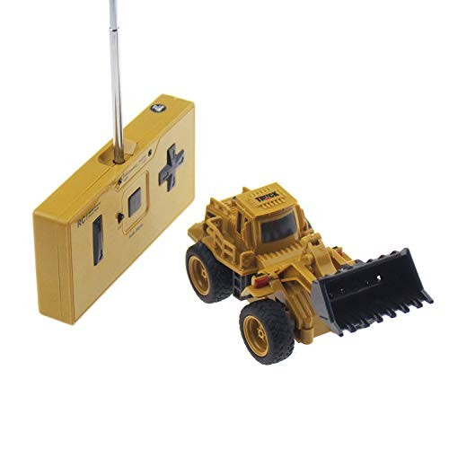 Tipmant 4CH Mini Remote Control Truck RC Vehicle Engineering Model Toy Electric Car Kids Gift Bulldozers