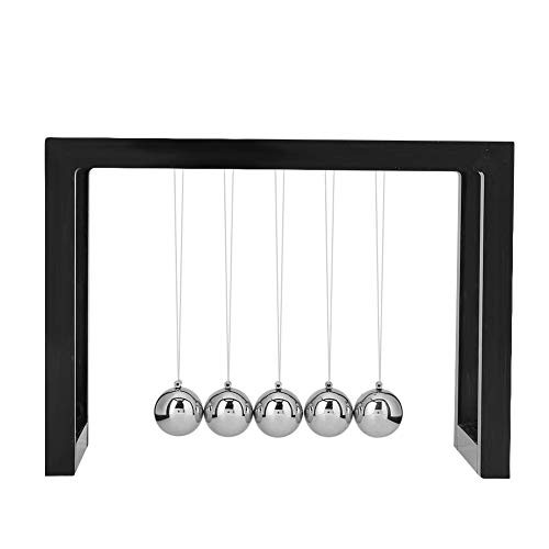Garosa Pendulum Balls Balance Desk Decoration for Living Room Drawing and Toy Office Black