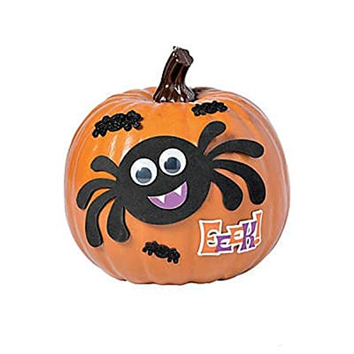 Goofy Spider Pumpkin Decorating Foam Craft Kit – Decorates 1 New